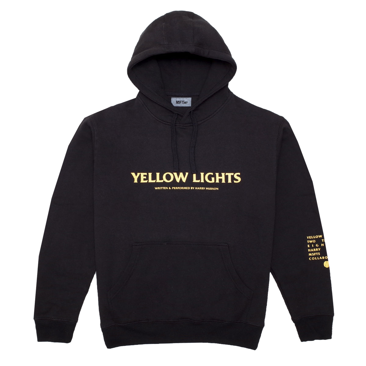 yellow lights hoodie  black   u2013 msftsrep