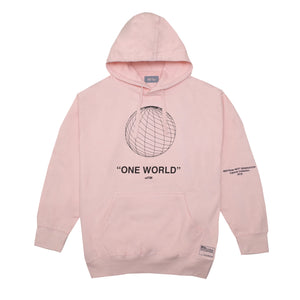 One World Hoodie, Pink