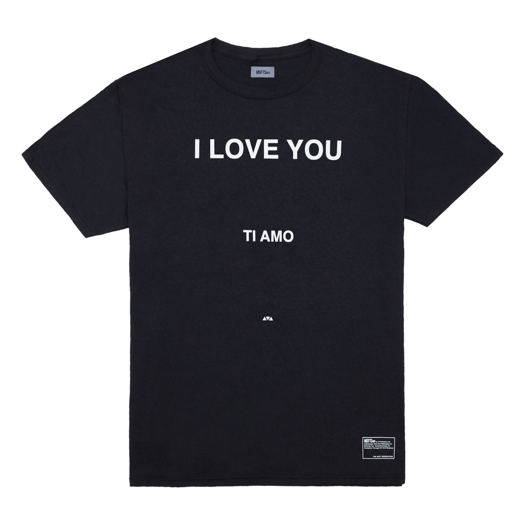 I Love You T-Shirt, Black