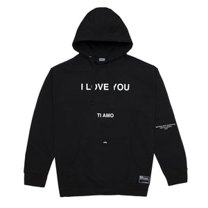 I Love You Hoodie, Black