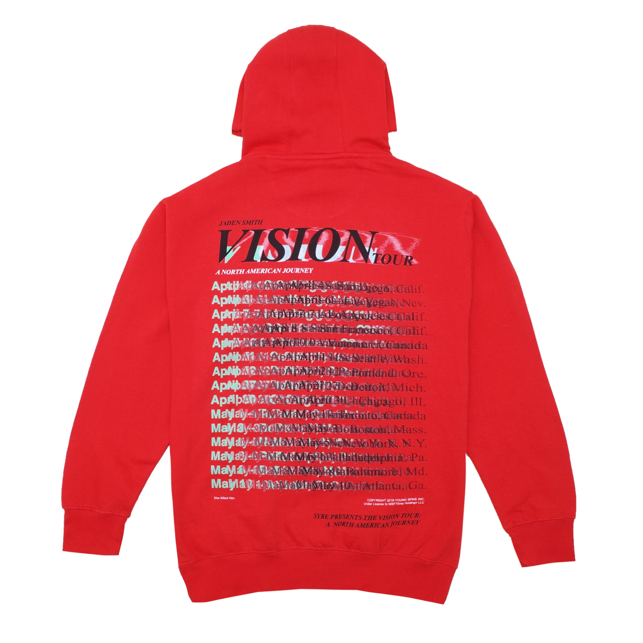 Vision Tour Hoodie, Red