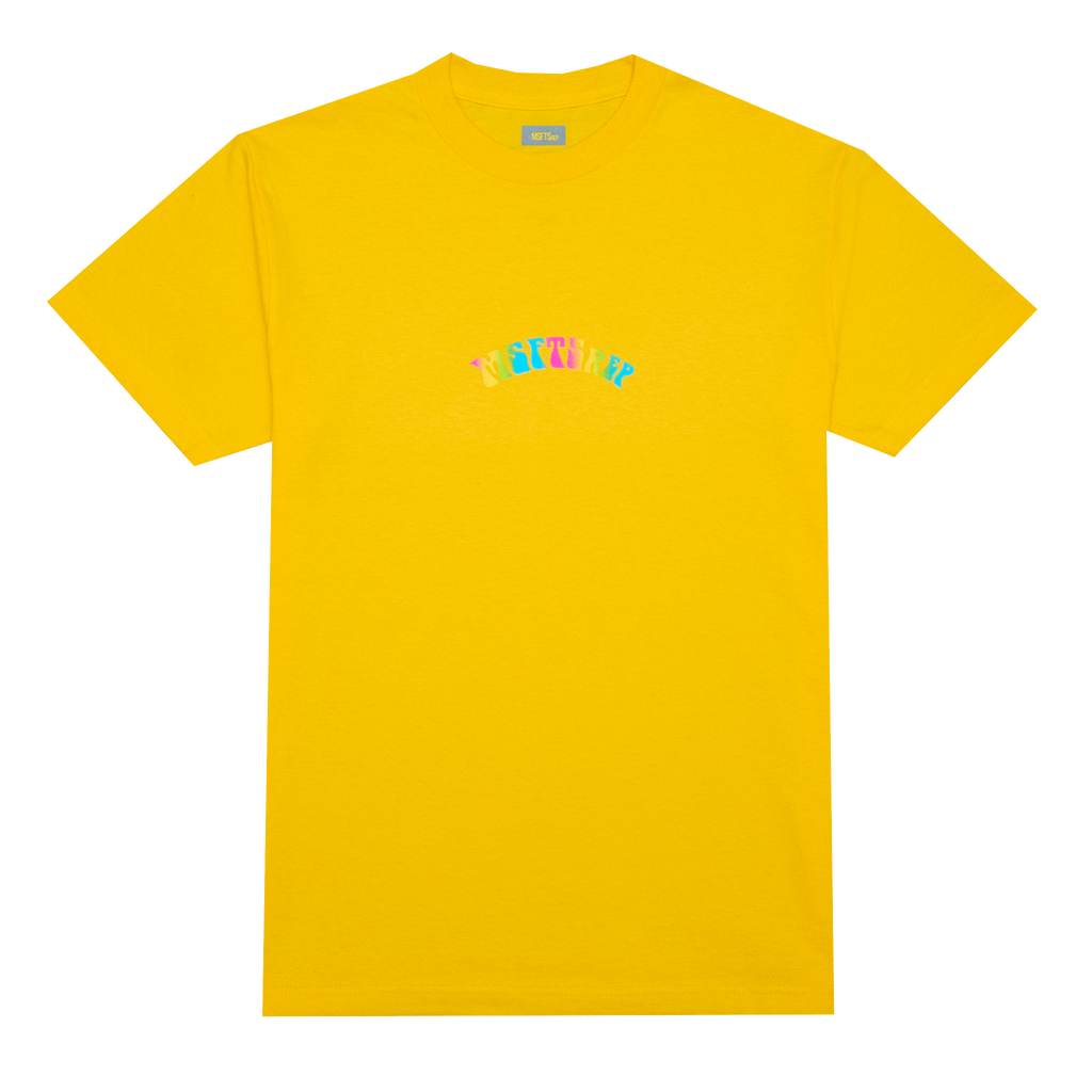 Trippy Logo T-Shirt, Yellow