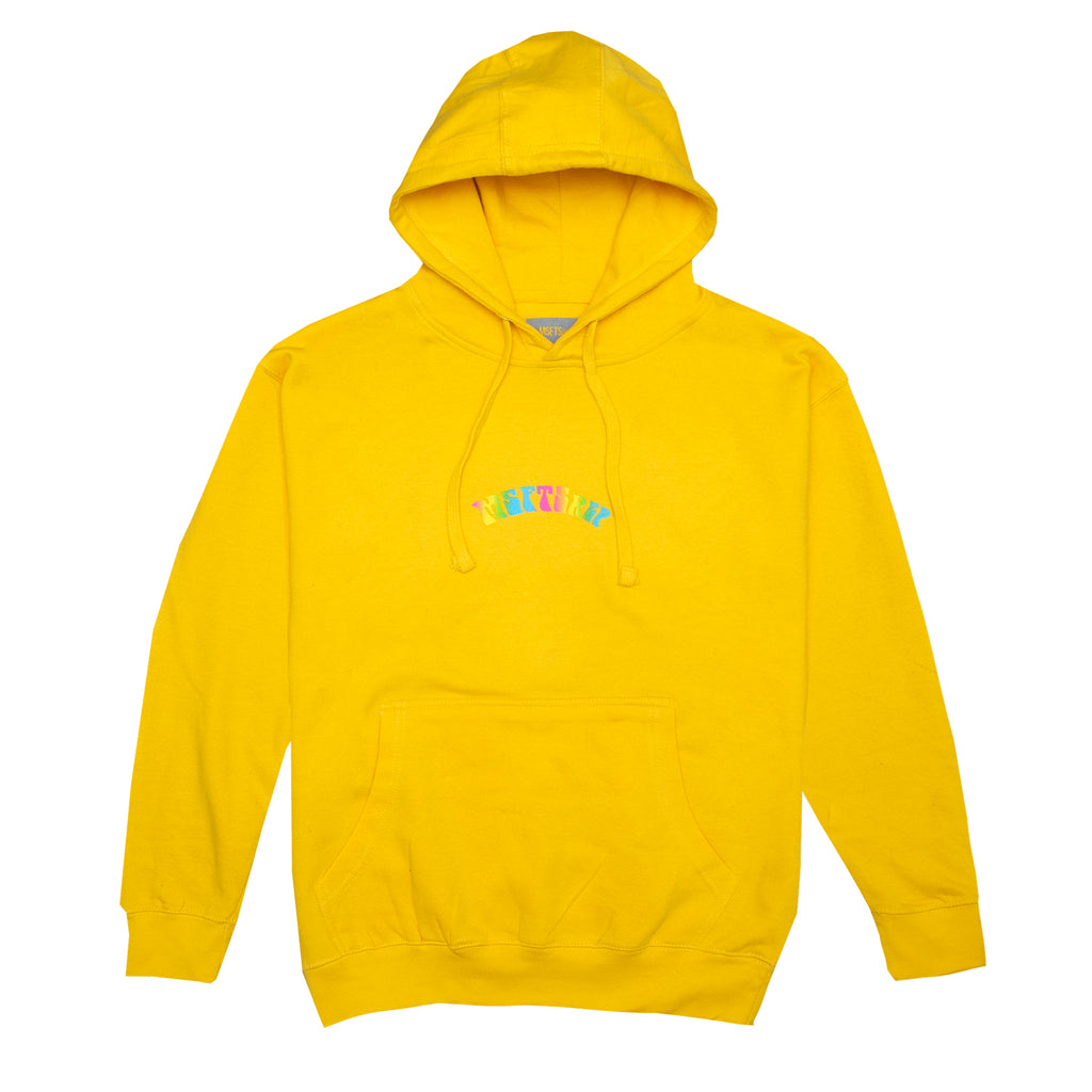 Trippy Logo Hoodie, Yellow