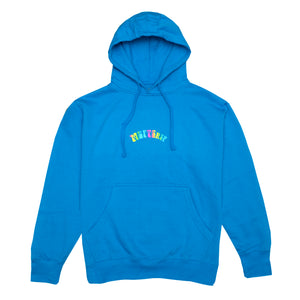 Trippy Logo Hoodie, Electric Blue