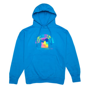 Trippy Summer Hoodie, Electric Blue
