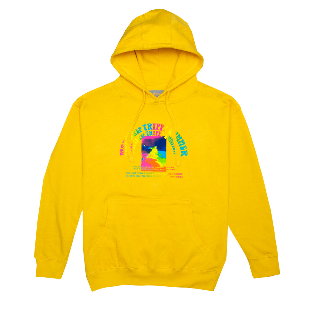Trippy Summer Hoodie, Yellow