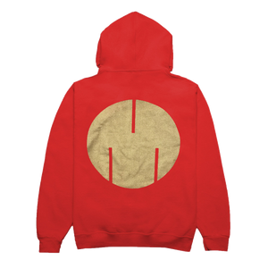 Circle Logo Sweatshirt, Red/Gold