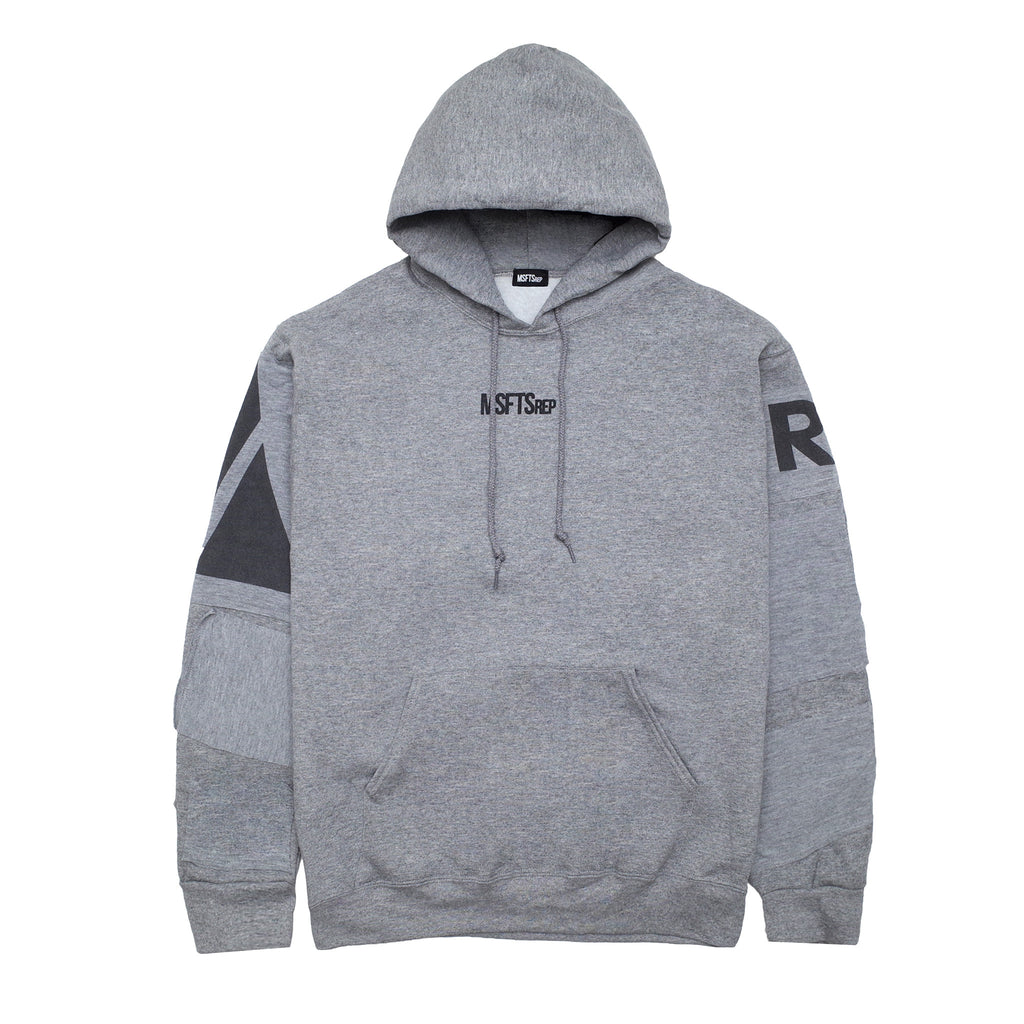 Patchwork Sweatshirt, Heather Grey (Army)