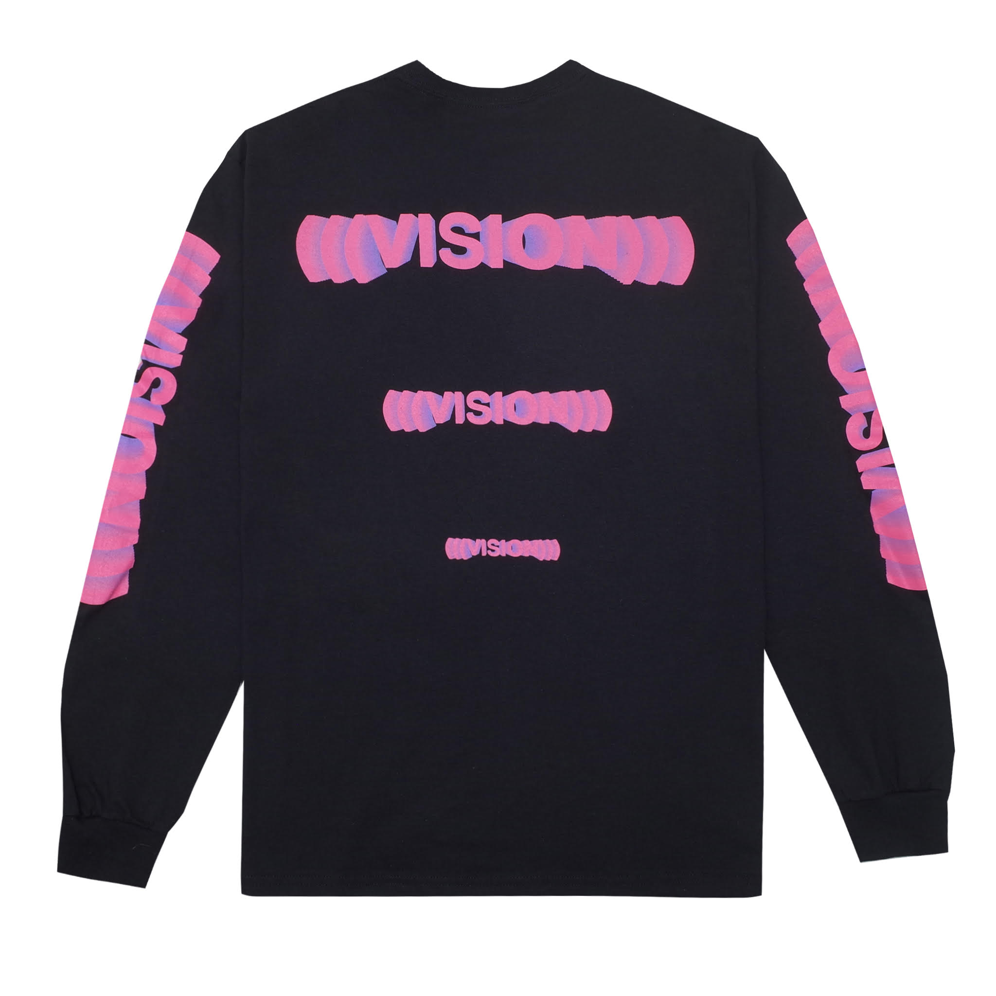 Vision Long Sleeve T-Shirt, Black