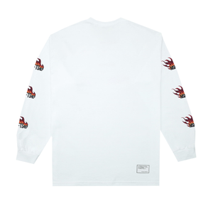 Flame Long Sleeve T-Shirt, White