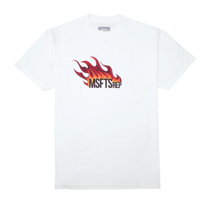 Flame Logo T-Shirt, White