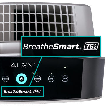 Alen BreatheSmart 75i Control Panel Close Up