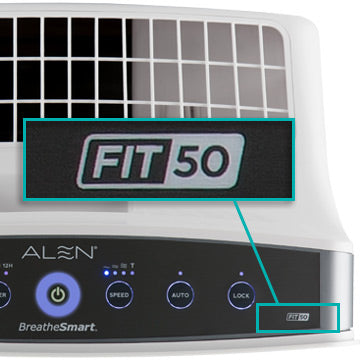 Alen BreatheSmart FIT50 Control Panel Close Up