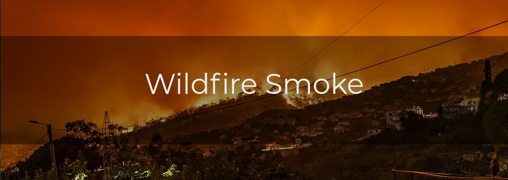 Wildfire Smoke - image of fires in mountains