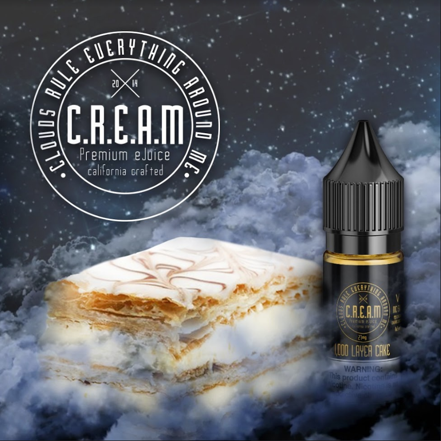 C.R.E.A.M - V 1000 Layer Cake [Nic Salt] (16.5ML) (NOT FOR SALE IN USA)