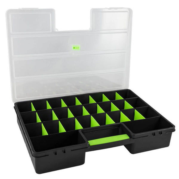 Small Parts Storage Container With 26 Compartments - Sweeney Motor Factors