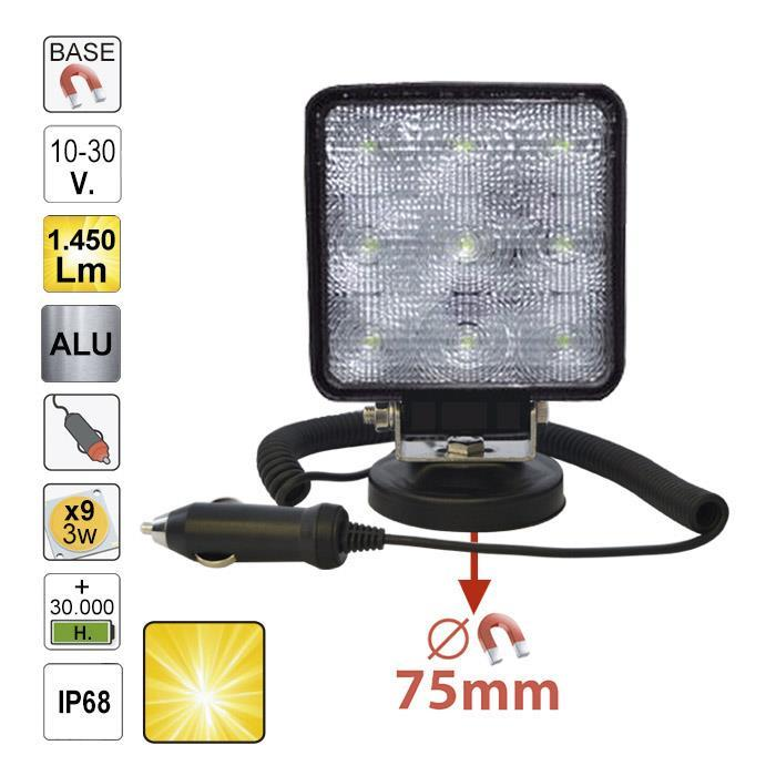 JBM-52566 Magnetic Work Lamp With Scattered Light 1450 Lumens