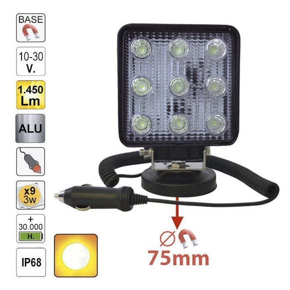 JBM-52568 Magnetic Work Lamp Square Spot Light 1450 Lumens