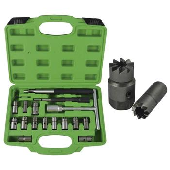 JBM-52813 Diesel Injector Seat Cutter / Cleaner Set 17pc