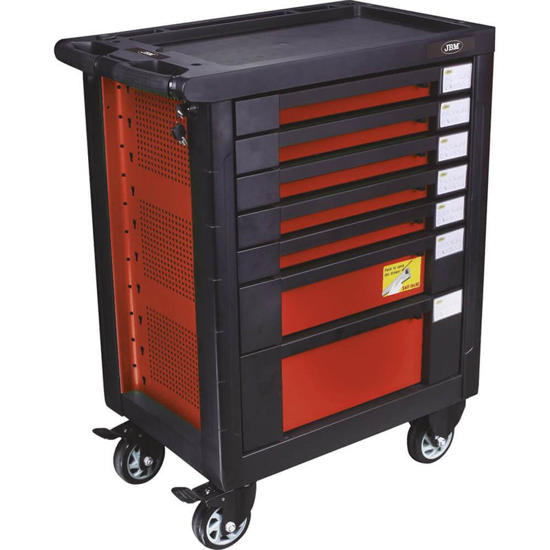 Red Tool Cabinet With Tools In Foam Tray (D) 470 x (L) 700 x (H) 970mm - Sweeney Motor Factors