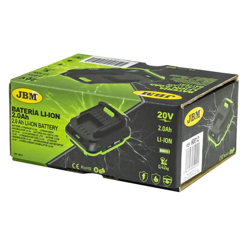JBM-60012 Li-ion Battery 2.0 Ah For JBM Cordless Tools