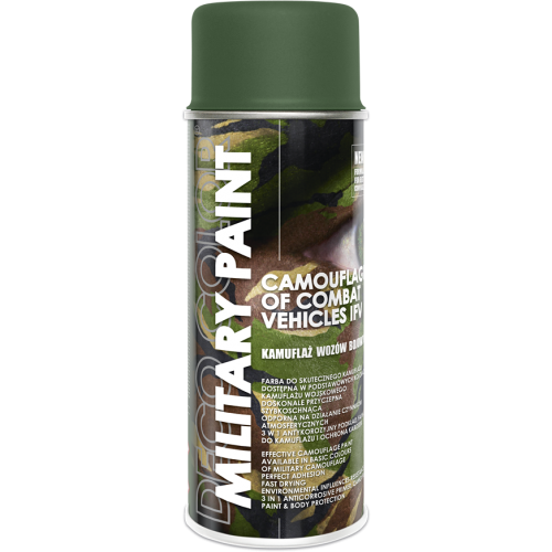 Military Spray Paint Anti Reflective Camouflage 400ml Olive Green - Deco Color Ireland
