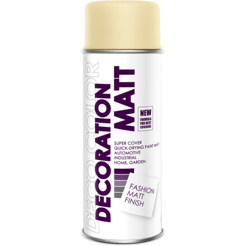 Decoration Matt Spray Paint Ivory 400ml - Deco Color Ireland