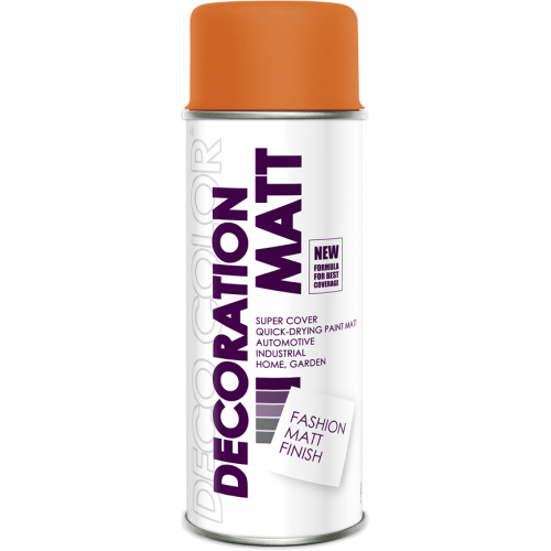 Decoration Matt Spray Paint Orange 400ml - Deco Color Ireland