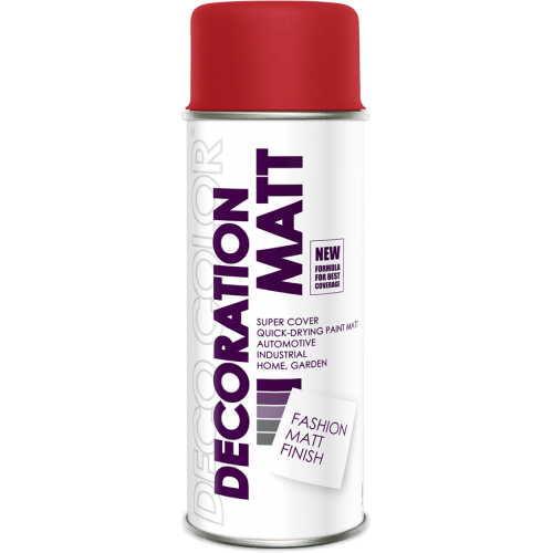 Decoration Matt Spray Paint Red 400ml - Deco Color Ireland