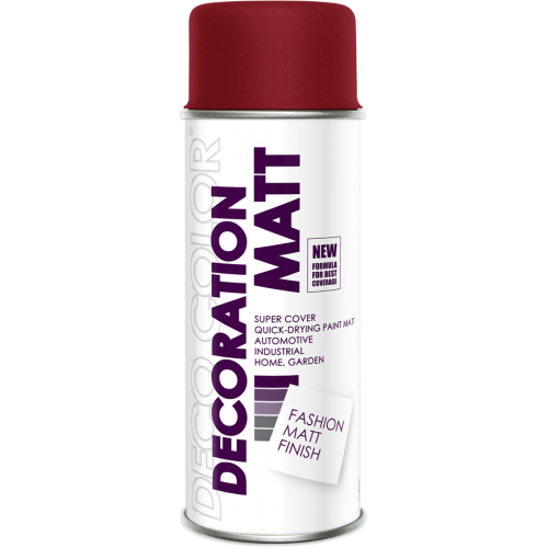 Decoration Matt Spray Paint Ruby 400ml - Deco Color Ireland