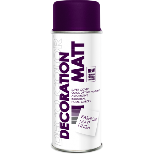 Decoration Matt Spray Paint Deep Purple 400ml - Deco Color Ireland