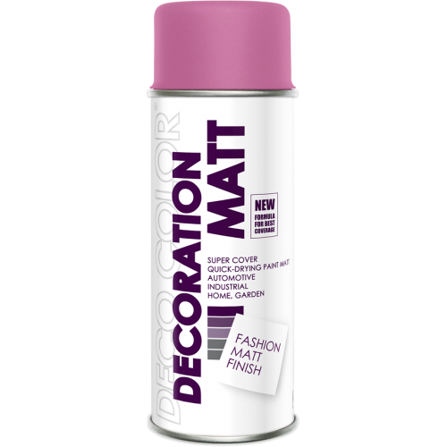 Decoration Matt Spray Paint Pink 400ml - Deco Color Ireland