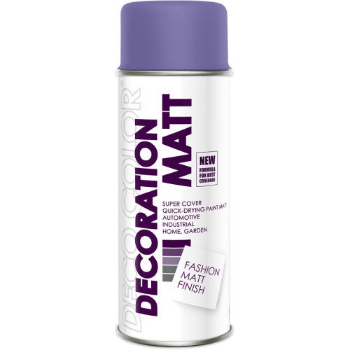 Decoration Matt Spray Paint Purple 400ml - Deco Color Ireland