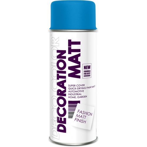 Decoration Matt Spray Paint Blue 400ml - Deco Color Ireland