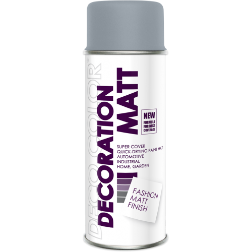 Decoration Matt Spray Paint Grey 400ml - Deco Color Ireland