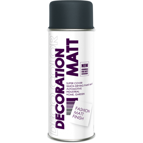Decoration Matt Spray Paint Anthracite 400ml - Deco Color Ireland