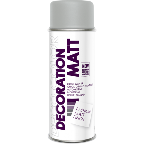Decoration Matt Spray Paint Light Grey 400ml - Deco Color Ireland