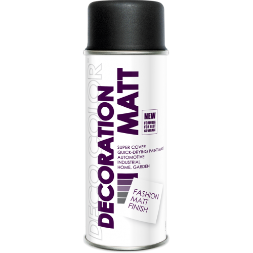 Decoration Matt Spray Paint Black 400ml - Deco Color Ireland