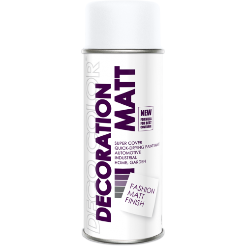Decoration Matt Spray Paint White 400ml - Deco Color Ireland