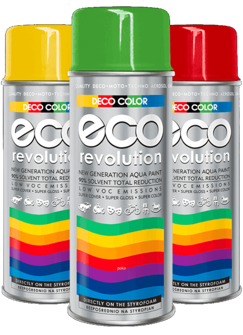 Deco Color-Eco Revolution 400ml Water Based Spray Paint 28 Different Colours - Sweeney Motor Factors