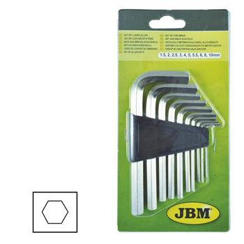 JBM-50571 Allen Key Set Metric 10pc
