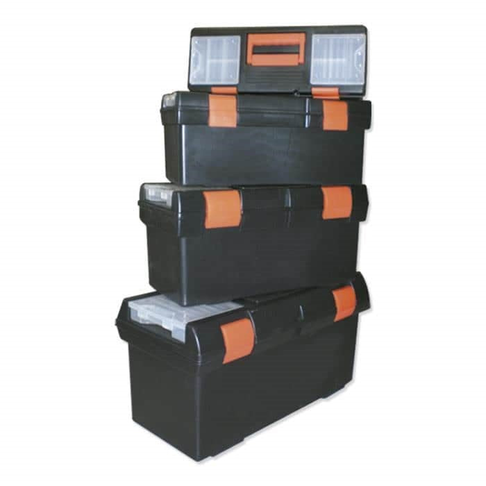 JBM-50961 Set Of Four Plastic Tool Boxes