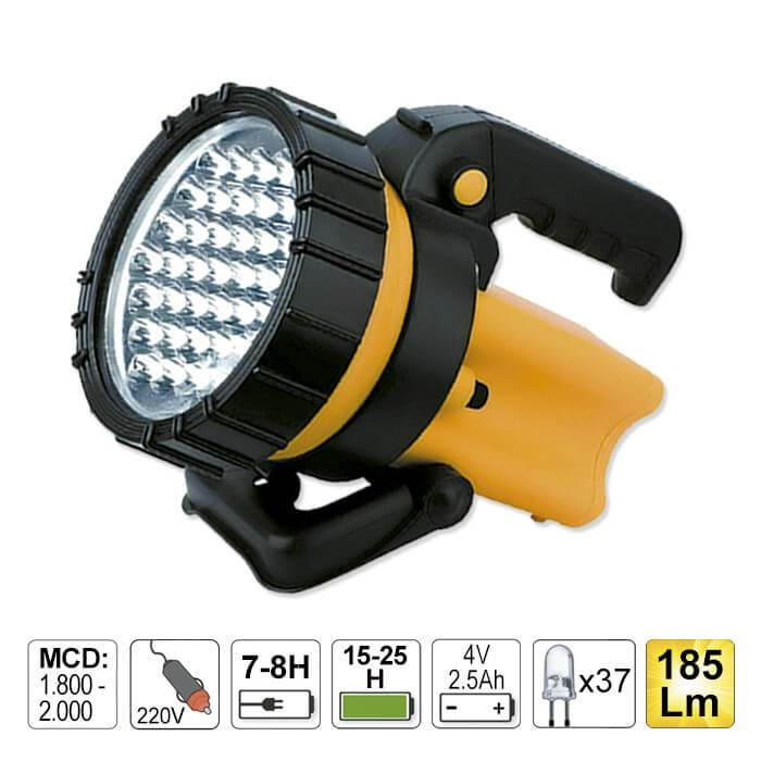LED Hand Lamp 37 LED With Swivel Handle And Holder 185 Lumens
