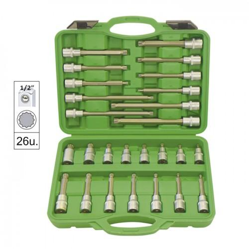 JBM-52603 26pc Bit Socket Set 12 Point