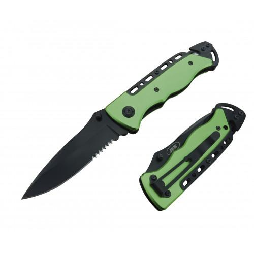 JBM-52786 Folding Knife With Seatbelt Cutter And Window Breaking Hammer