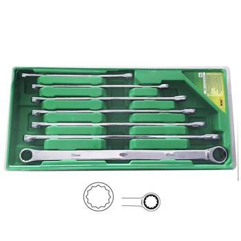 JBM-53019 Ratchet Spanner Set 7pc Extra Long