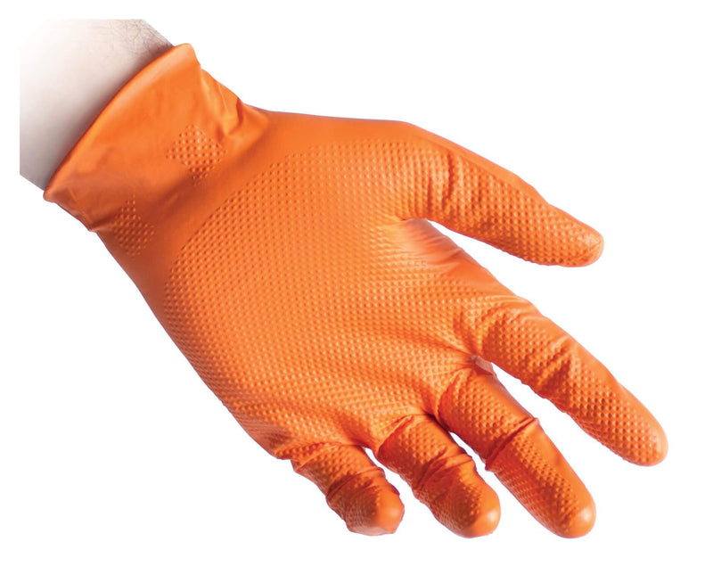 Reflexx Full Grip Heavy Duty Nitrile Glove 50pk Tiger Grip