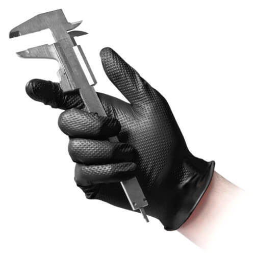 Black Nitrile Gloves Heavy Duty Full Scale Grip 8.4gr 50pk - Sweeney Motor Factors