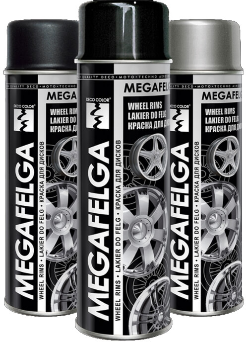 Megafelga Alloy Wheel Rims Spray Paint 500ml - Deco Color Ireland
