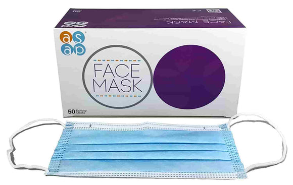 Premium Non-Woven Disposable Face Masks - 3 Ply 100pc